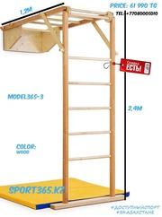 детский спорт комплекс лестница+рукоход+турник+мат