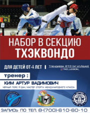 Секция Taekwondo WT для детей от 4 лет (Таэквондо, Таеквондо, Тхэквондо)